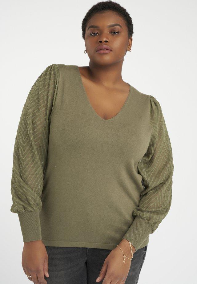 Pullover - licht khaki