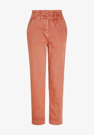 ELASTICATED WAIST - Straight leg jeans - pink