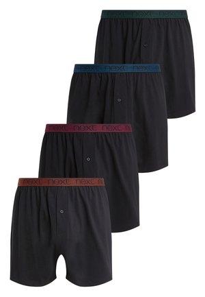 BLACK LOOSE FIT PURE COTTON FOUR PACK - Boxer shorts - black