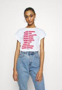 Dedicated - TVISBY MORE - Print T-shirt - white - 0