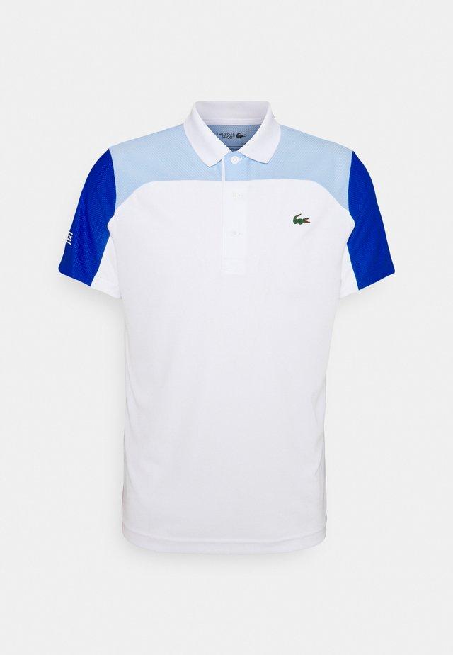 TENNIS - Piké - white/nattier blue