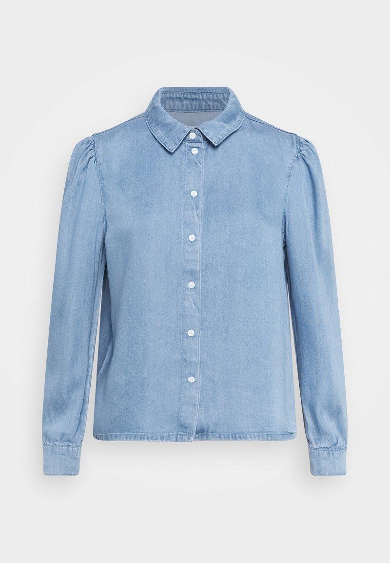 ONLY - ONLBILLIE DENIM LIFE DNM SHIRT QYT - Košile - medium blue denim