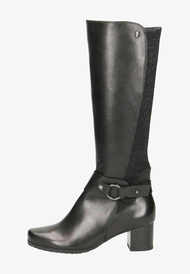 Laarzen met hoge hak - black comb