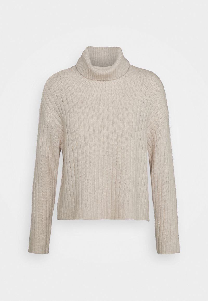 Even&Odd - RIBBED BOXY TURTLE NECK - Jumper - beige