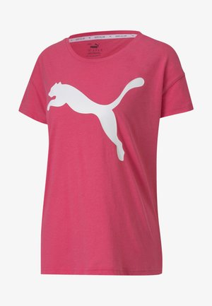 MUJER - Print T-shirt - glowing pink cat