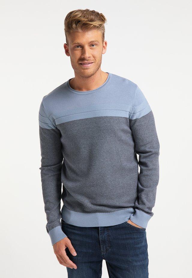 Pullover - jeansblau dunkelgrau