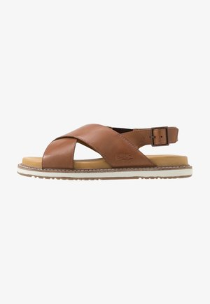 LANA CROSS STRAP - Walking sandals - tortoise shell/silver birch