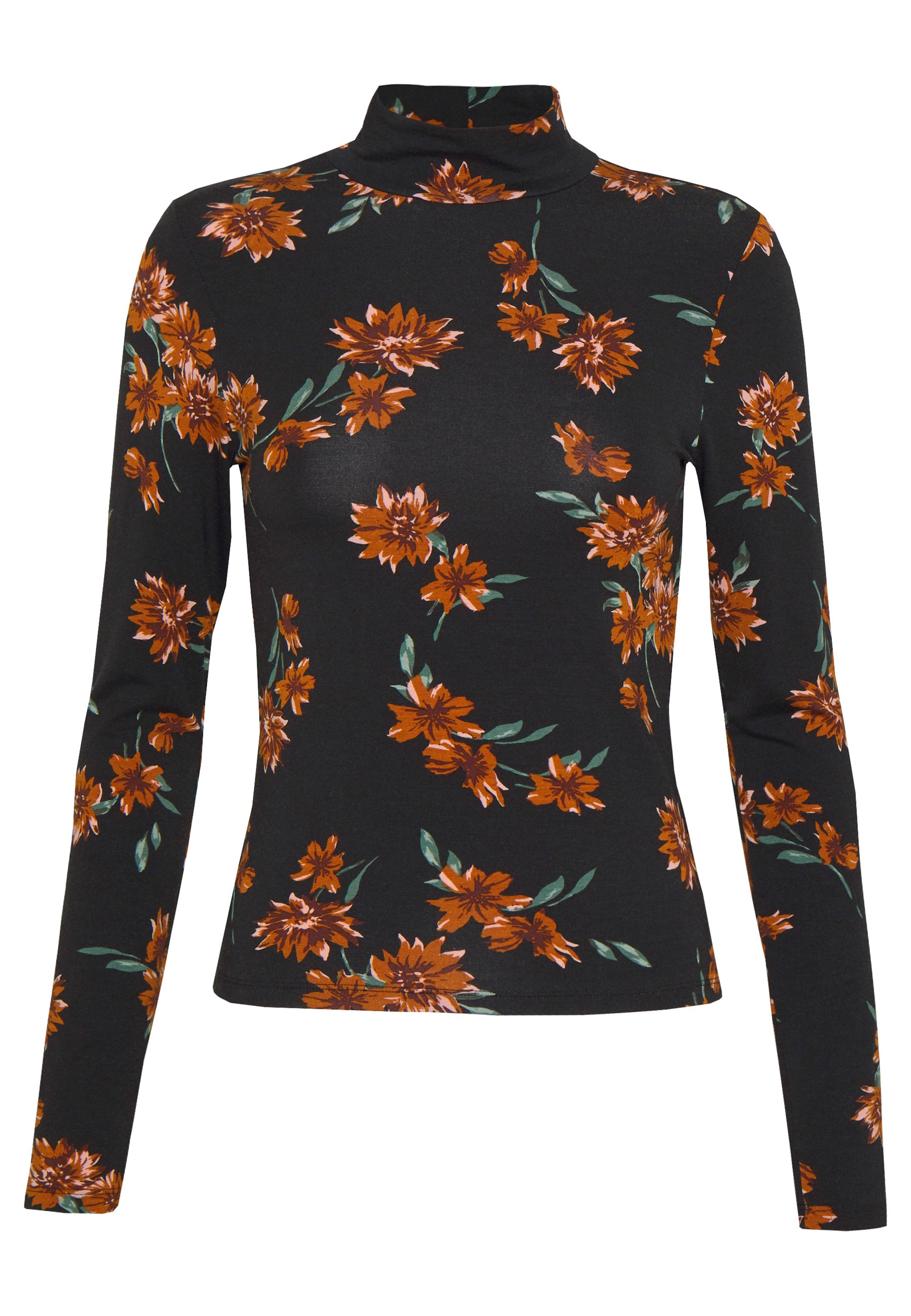 Gina Tricot DORSIA - Topper langermet - black/orange