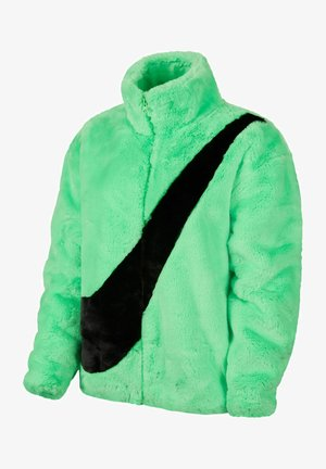 Winter jacket - poison green/black