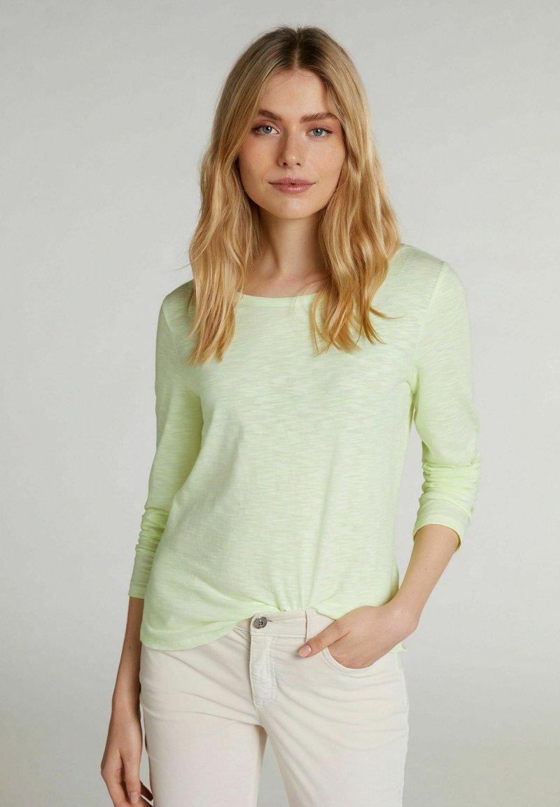Oui - Sweatshirt - white yellow/or