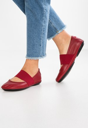 RIGHT NINA - Ankle strap ballet pumps - rot