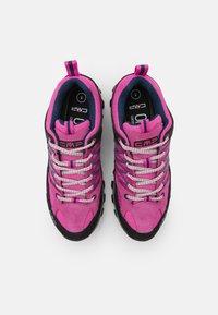 CMP - RIGEL LOW TREKKING SHOE WP - Hiking shoes - malva/blue - 3