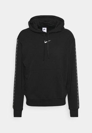 REPEAT HOODIE - Sweatshirt - black/white