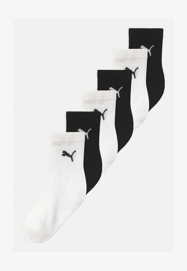 SPORT JUNIOR 6 PACK UNISEX - Strumpor - black/white
