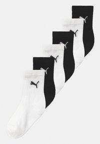 Puma - SPORT JUNIOR 6 PACK UNISEX - Chaussettes - black/white - 0