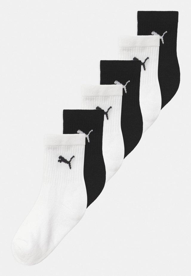 SPORT JUNIOR 6 PACK UNISEX - Ponožky - black/white