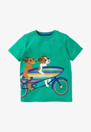 Print T-shirt - baumgrün, hunde