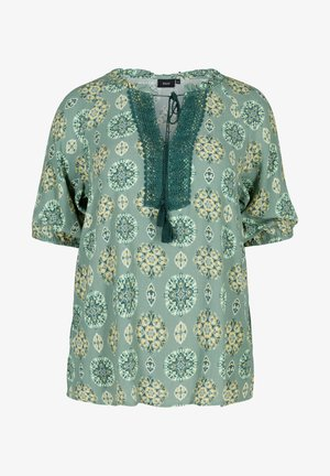 Blouse - green indian