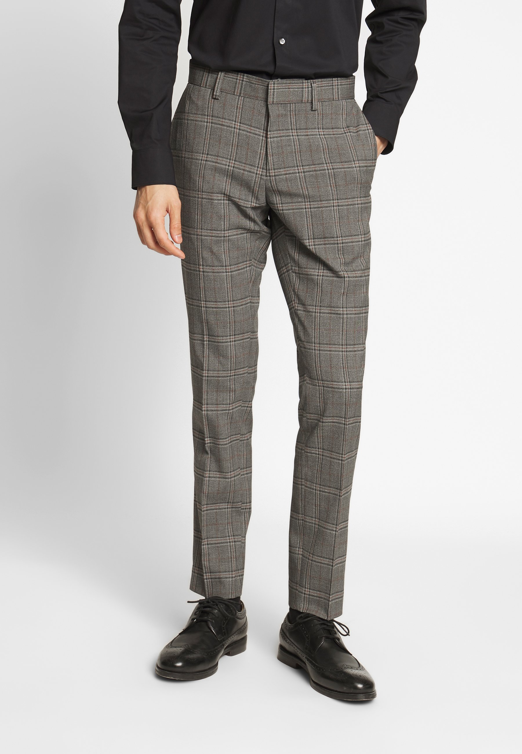 Isaac Dewhirst CHECK SUIT - Costume - light brown