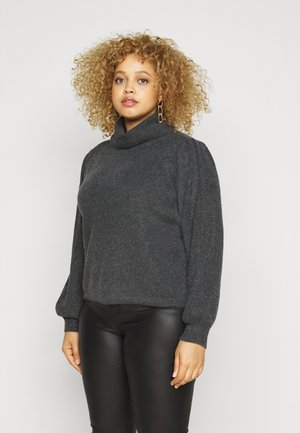 PCSALSA ROLL NECK  - Jumper - dark grey melange