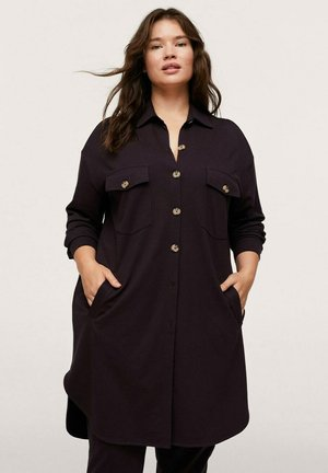 Button-down blouse - chocolate