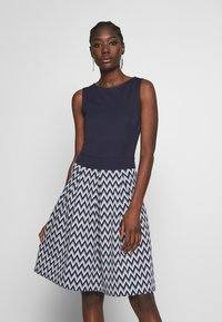 Anna Field - Jersey dress - white/maritime blue - 0