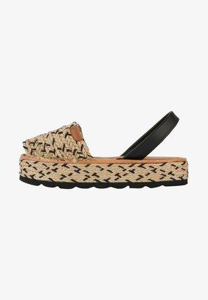 MENORCAN - Platform sandals - noir/ beige