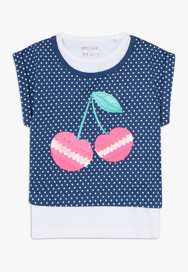 2-IN-1 KID - Camiseta estampada - dark blue melange