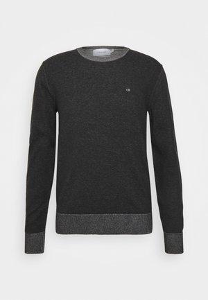 C NECK SWEATER - Pullover - black