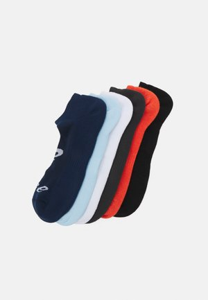 INVISIBLE SOCK 6 PACK UNISEX - Sports socks - white/black/grey/peacoat/smoke blue/marigold