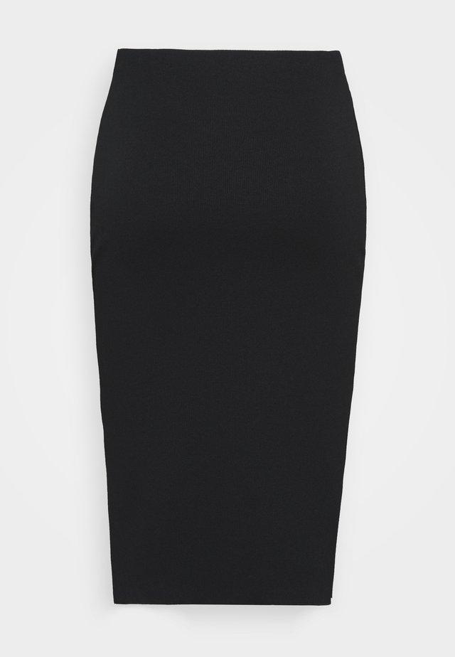 COMPACT SKIRT - Spódnica ołówkowa  - black