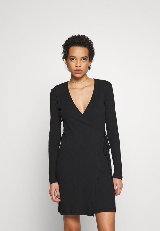 SARI WRAP DRESS - Day dress - black