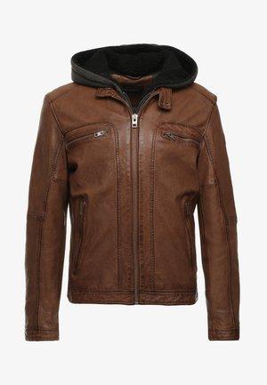 DRINK - Leather jacket - tan