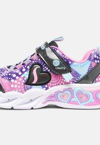 Skechers - SWEETHEART LIGHTS - Trainers - black & multi sparkle - 6
