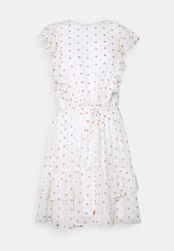TOBI RUFFLE SKATER DRESS - Robe d'été - geo ditsy