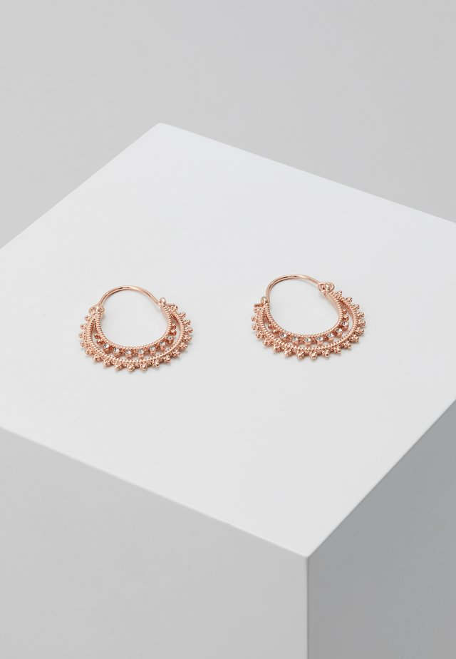 EARRINGS SIGNE - Ohrringe - rose gold-coloured