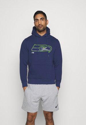 NFL SEATTLE SEAHAWKS GLOW CORE GRAPHIC HOODIE - Sweatshirt - navy
