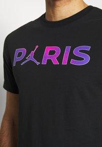 Nike Performance - PARIS ST GERMAIN WORDMARK TEE - Club wear - black - 3