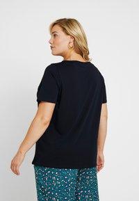 MY TRUE ME TOM TAILOR - WITH MESH INSERT - T-shirt z nadrukiem - sky captain blue - 2