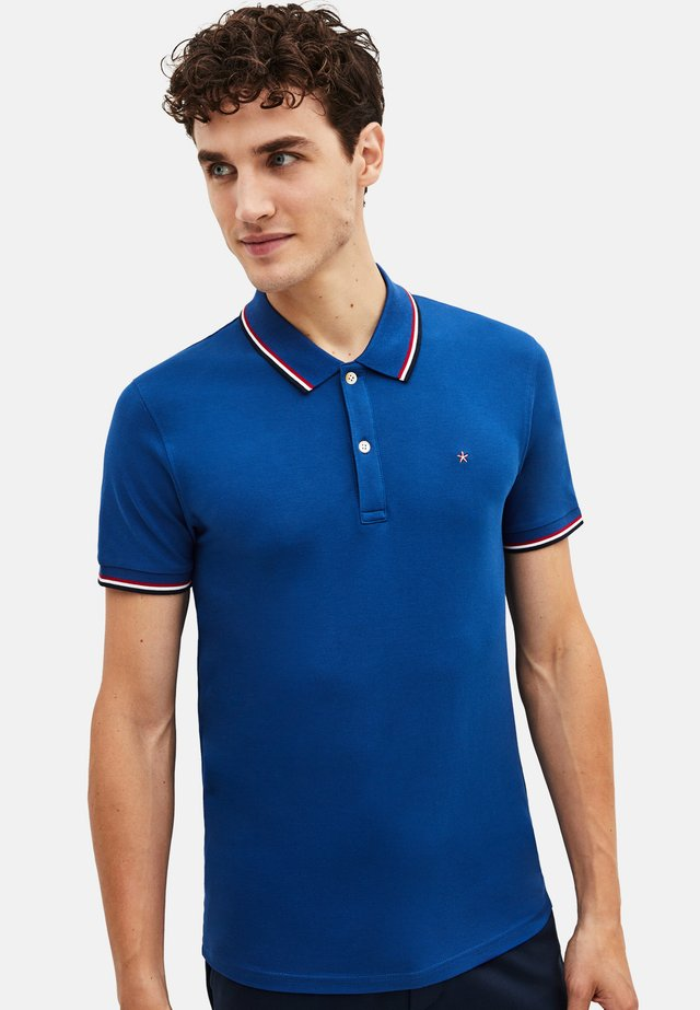 NECE TWO - Koszulka polo - blue