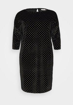 CARELINORA 3/4 KNEE DRESS - Day dress - black/gold
