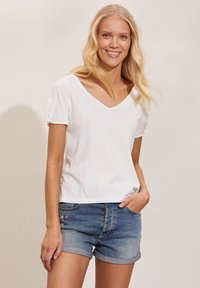 Odd Molly - KALEI - Print T-shirt - light chalk - 0