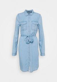 Vero Moda Tall - VMVIVIANAMIA SHIRT DRESS - Denim dress - light blue denim - 0