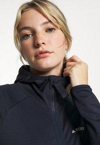 adidas Performance - TERREX TECH LITE HOODED - Fleece jacket - legend ink - 3