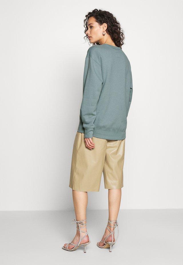 EMBOSSED LOGO PUFF SLEEVE CREW - Sweater - blue