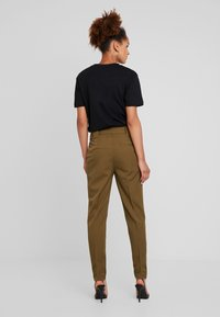 YAS - YASTUDOR PANT - Trousers - military olive - 2