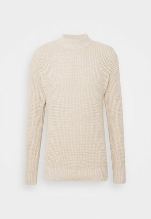SLHNATHAN HIGH NECK - Maglione - oyster gray