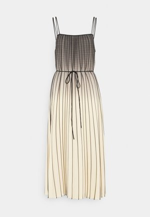 OMBRE PLAID PLEATED DRESS - Denní šaty - nude/black