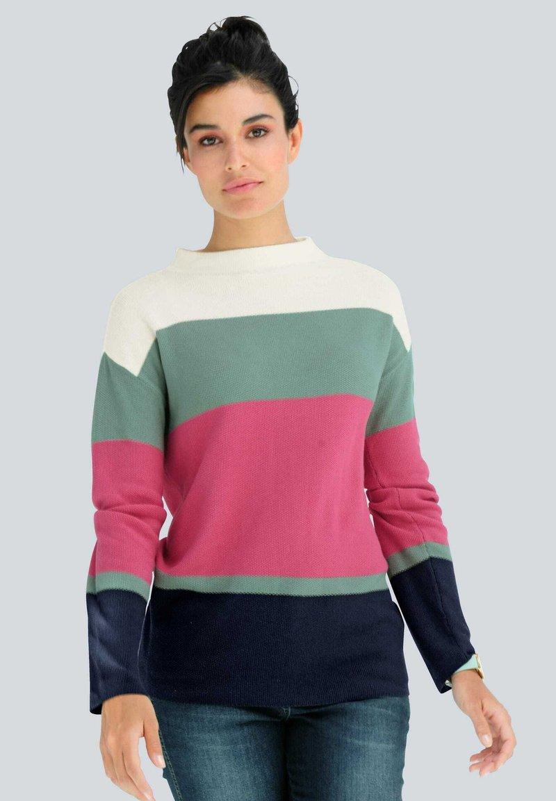Alba Moda - Jumper - off-white,fuchsia,salbeigrün