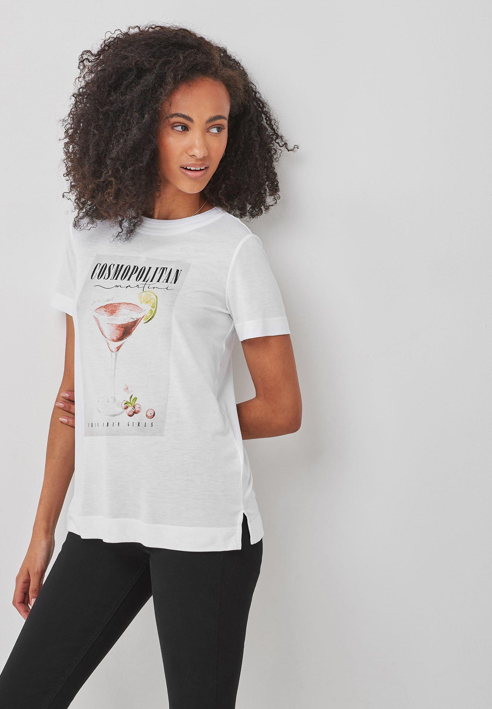 Damen CURVED - T-Shirt print